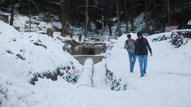 Image result for Keylong in Himachal freezes at minus 4.1